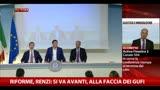 30/06/2014 - Riforme, Renzi: si va avanti, alla faccia dei gufi