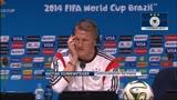 """13/07/2014 - Germania, Schweinsteiger: """"Gruppo esperto e compatto"""""""