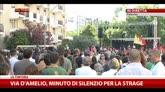 19/07/2014 - Via D'Amelio, minuto di silenzio per la strage