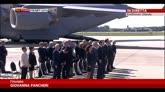 23/07/2014 - Volo MH17, l'arrivo delle salme all'aeroporto di Eindhovern