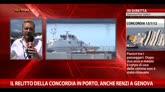 27/07/2014 - Il relitto della Concordia in porto, anche Renzi a Genova