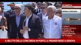 """27/07/2014 - Concordia a Genova, Renzi: """"Oggi dobbiamo dire grazie"""""""
