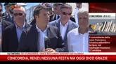 27/07/2014 - Concordia, Renzi: nessuna festa ma oggi dico grazie