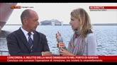 28/07/2014 - Concordia ormeggiata a Genova, intervista a Luigi Merlo
