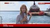 28/07/2014 - Concordia, il relitto ormeggiato nel porto di Genova