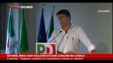 31/07/2014 - Riforme, Renzi: non vogliamo evitare canguro ma lumaca