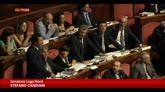 """31/07/2014 - Opposizioni contro Grasso gridano """"Libertà, libertà"""""""