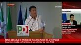 """31/07/2014 - Renzi: """"Se parlo di Tavecchio, italiane fuori da Champions"""""""