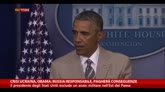 """29/08/2014 - Ucraina, Obama: """"Russia responsabile, pagherà conseguenze"""""""