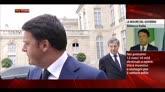 """30/08/2014 - Renzi all'Eliseo, """"Lunga discussione su crescita e economia"""""""