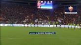 31/08/2014 - Roma, buona la prima. La squadra festeggia sotto la curva