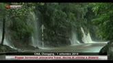 Cina, piogge torrenziali provocano frane; vittime e dispersi