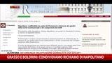 Grasso e Boldrini: condividiamo richiamo di Napolitano