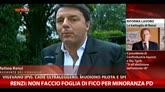 Renzi: non faccio foglia di fico per minoranza PD