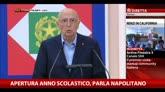 """Napolitano: """"Per uscire dalla crisi serve uno sforzo comune"""""""
