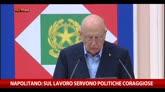 Napolitano: sul lavoro servono politiche coraggiose
