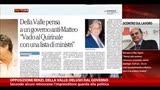 """28/09/2014 - Opposizione Renzi, Della Valle: """"Deluso dal Governo"""""""