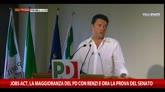30/09/2014 - Jobs Act, maggioranza Pd con Renzi e ora la prova del Senato