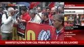 08/10/2014 - Manifestazione Fiom-Cgil, intervista a Landini