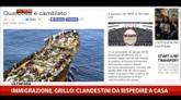 Immigrazione, Grillo: clandestini da rispedire  a casa