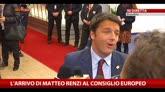 L'arrivo di Matteo Renzi al consiglio Europeo