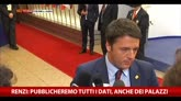 Renzi: pubblicheremo tutti i dati, anche dei palazzi