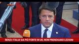 Renzi: Italia sia più forte in UE, non prendiamo lezioni