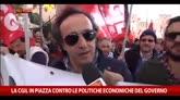 25/10/2014 - Cgil in piazza, le voci dei manifestanti