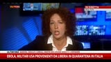 27/10/2014 - Militari Usa provenienti da Liberia in quarantena in Italia