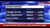 27/10/2014 - Stress test, tonfo in Borsa: Mps e Carige affondano