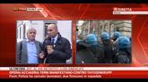 29/10/2014 - Operai acciaieria Terni manifestano contro Thyssenkrupp