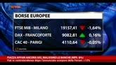 Piazza Affari ancora giù, malissimo le banche (MPS -8%)