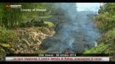 30/10/2014 - Usa, la lava raggiunge il centro abitato di Pahoa