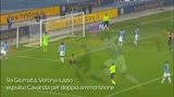 Doppia ammonizione a Cavanda, la Lazio resta in 10 a Verona