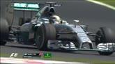 GP Brasile, si gira Hamilton a metà gara