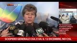 Sciopero generale 12 dicembre, Camusso: Cgil in piazza