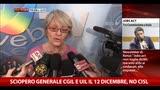 Sciopero generale 12 dicembre, Furlan: nessuno sciopero Cisl