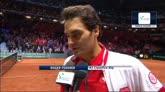 """22/11/2014 - Coppa Davis, Federer: """"Un sollievo aver vinto il doppio"""""""