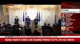Renzi: non è vero che hanno perso tutti. PD ha vinto
