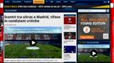 30/11/2014 - Scontri tra ultras a Madrid, tifoso gravissimo
