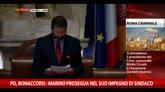 05/12/2014 - Pd, Bonaccorsi: dovere di Marino è far sì che città funzioni
