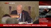 10/12/2014 - Napolitano: antipolitica è eversiva, serve mobilitazione
