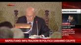 10/12/2014 - Napolitano: infiltrazioni in politica saranno colpite