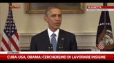 """17/12/2014 - Cuba, Obama: """"50 anni di embargo non han portato a niente"""""""