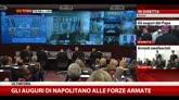 Gli auguri di Napolitano alle Forze Amate