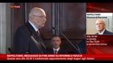 31/12/2014 - Napolitano: messaggio di fine anno su riforme e fiducia