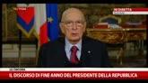 31/12/2014 - Napolitano: dimissioni sono ipotesi che Costituzione prevede