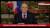 31/12/2014 - Il discorso di fine anno del Presidente della Repubblica