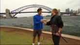 13/01/2015 - Sydney, Federer e Hewitt si sfidano sui motoscafi