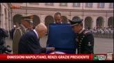 14/01/2015 - Dimissioni Napolitano, Renzi: grazie presidente